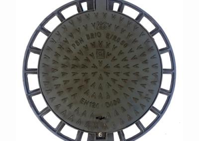 Καλύμματα φρεατίων στρογγυλά με βίδα ασφάλισης Φ60 D400