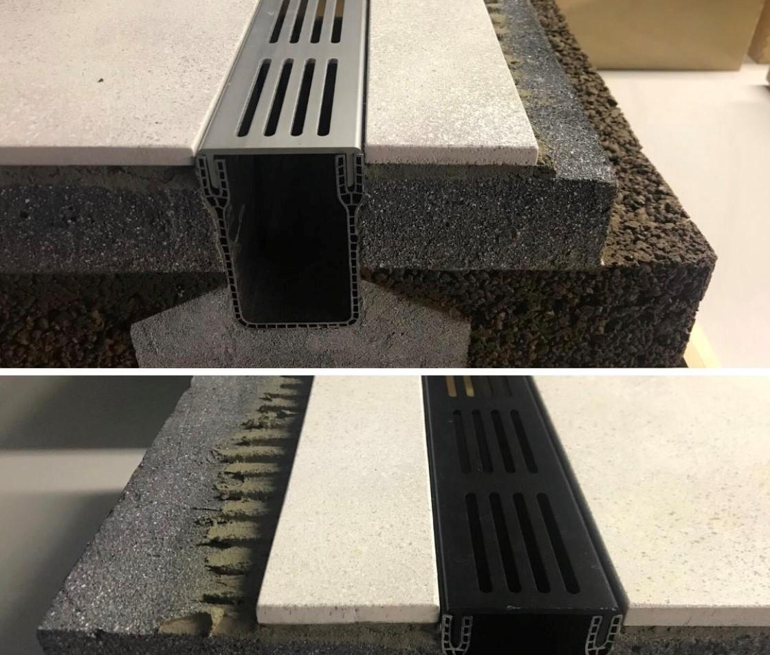 stardrain installation black & grey_1